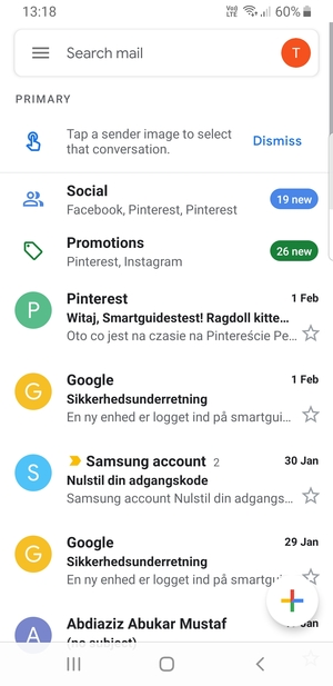 Set up Gmail - Samsung Galaxy S10e - Android 9 0 - Device Guides