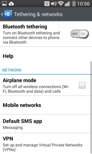 Set up Internet - LG L70 D320 - Android 4 4 - Device Guides