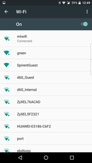 You are now connected to the Wi-Fi network