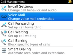 Select Voice Mail
