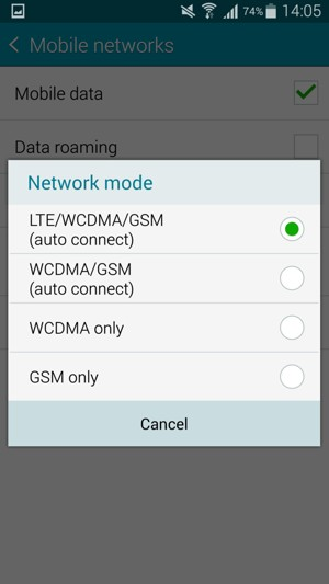 Switch between 3G/4G - Samsung Galaxy A5 - Android 4 4 - Device Guides