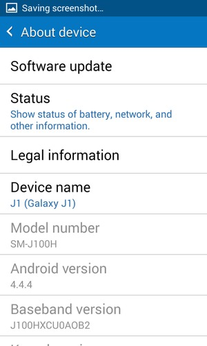 Update software - Samsung Galaxy J1 - Android 4 4 - Device
