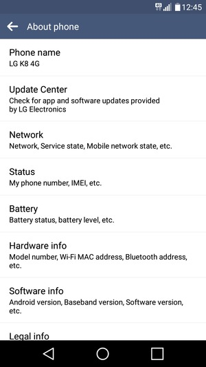 lg k7 software update