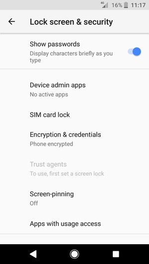 To change the PIN for the SIM card, return to the Lock screen & security menu and scroll to and select SIM card lock