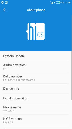 Update software - Tecno L8 - Android 5 1 - Device Guides