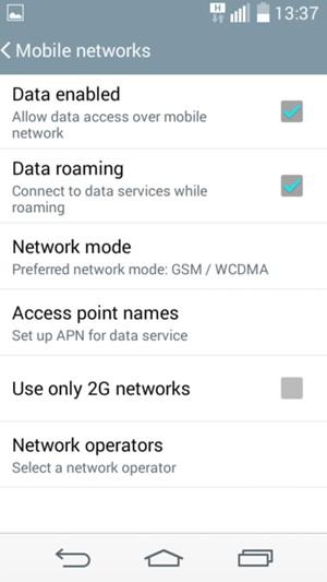 optus how to turn on roaming