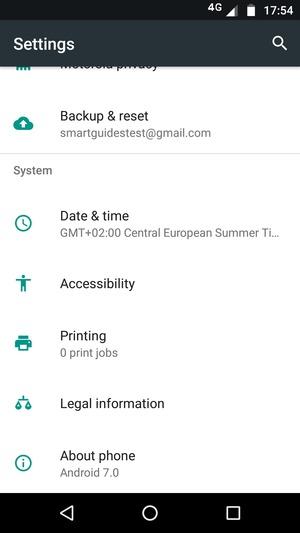 Update software - Motorola Moto G5 Plus - Android 7 0