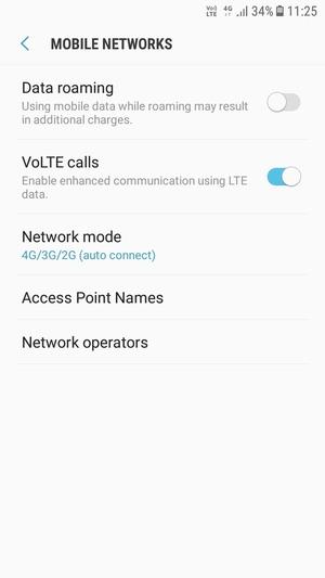 Switch between 3G/4G - Samsung Galaxy J7 Pro (2017