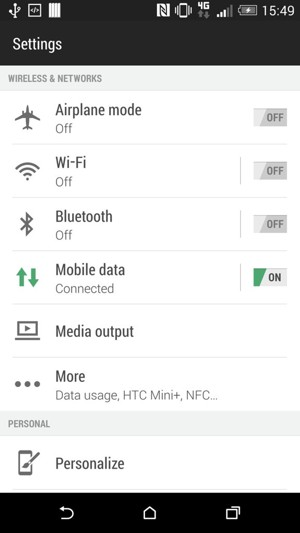 Set Up Internet Htc Desire 620 Android 4 4 Device Guides
