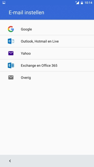 Selecteer Outlook, Hotmail en Live