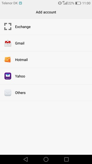 Select Gmail or Hotmail