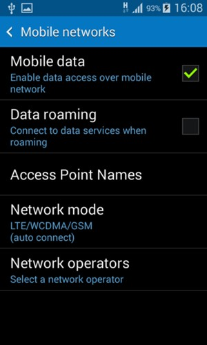 Switch between 3G/4G - Samsung Galaxy Grand Prime - Android 4 4