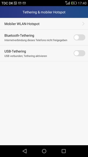 verwendung des handys als modem huawei y6 android 5 1 device guides. Black Bedroom Furniture Sets. Home Design Ideas