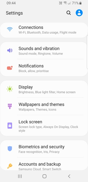 Secure phone - Samsung Galaxy S8 - Android 9 0 - Device Guides