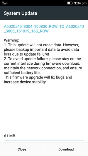 Update software - Lenovo Vibe K5 Plus - Android 5 1 - Device Guides