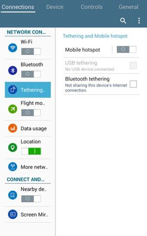 How to turn on hotspot on samsung galaxy tab e