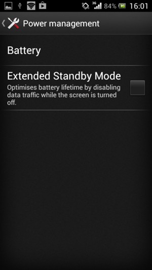 Check the Extended Standby Mode checkbox