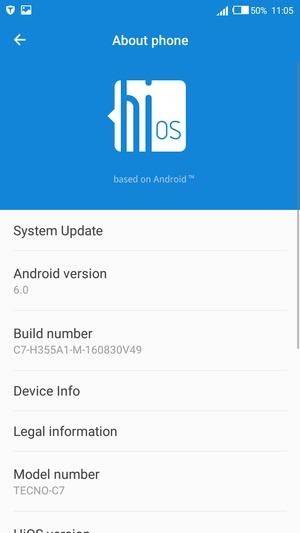 Update software - Tecno Camon C7 - Android 6 0 - Device Guides