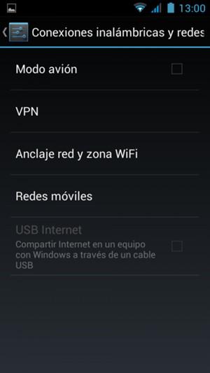 Seleccione Redes móviles