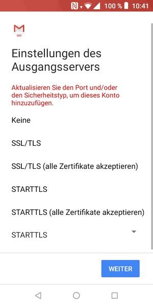 Einrichten von POP3/IMAP E-Mail - Wiko Android - Android 8.1 ...