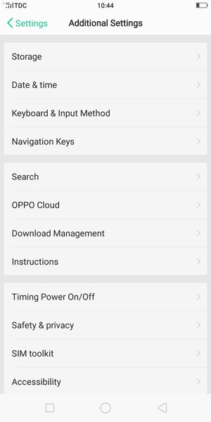 Secure phone - OPPO F5 Youth - Android 7 1 - Device Guides