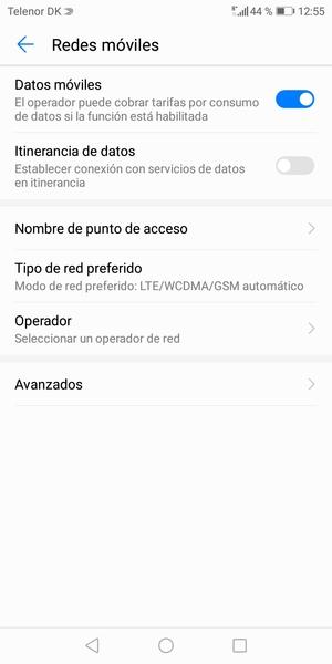 Para cambiar la red en caso de problemas de conectividad, seleccione Operador