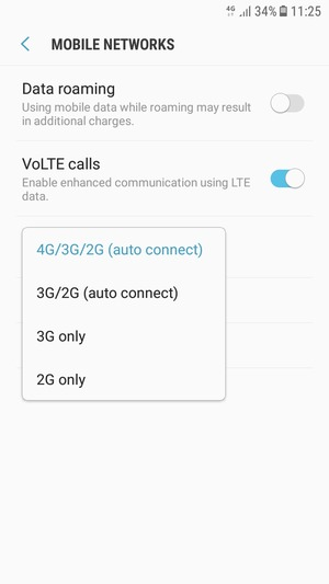 Switch between 3G/4G - Samsung Galaxy J7 Pro (2017) - Android 7 0