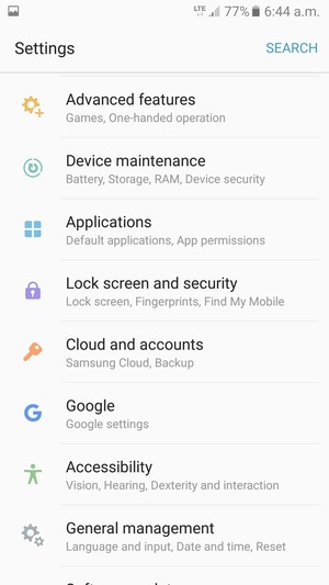 Import contacts - Samsung Galaxy A3 (2017) - Android 6 0