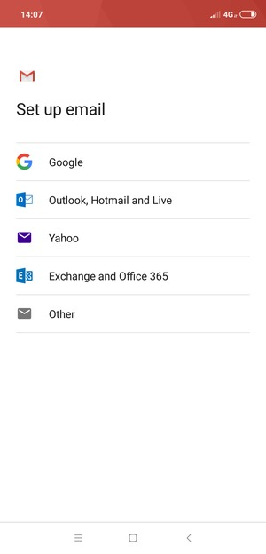 Select Exchange and Office 365