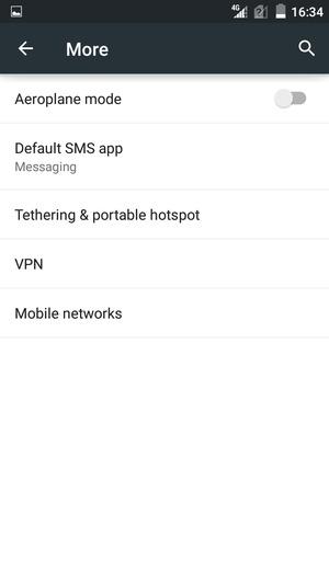 Switch between 2G/3G/4G - ZTE Android - Android 5 0 - Device Guides