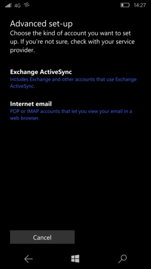 Select Exchange ActiveSync