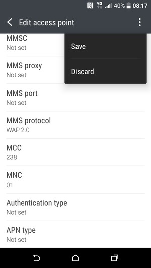 Set up MMS - HTC Desire 825 - Android 6 0 - Device Guides