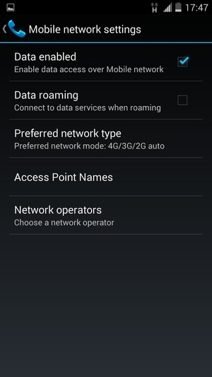 Set up Internet - ZTE Android - Android 4 4 - Device Guides