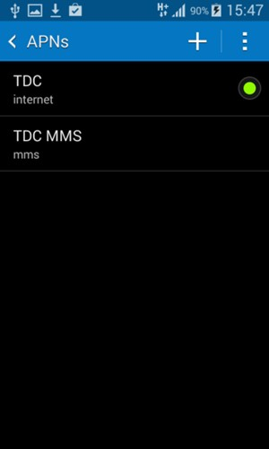 Set up Internet - Samsung Galaxy V Plus - Android 4 4