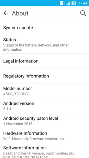 Update software - Asus ZenFone Go - Android 5 1 - Device Guides