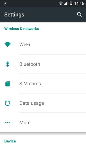 Set up Internet - Wiko Lenny2 - Android 5 1 - Device Guides