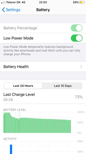 Select Low Power Mode