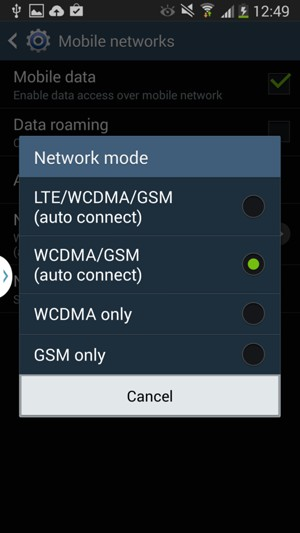Switch between 3G/4G - Samsung Galaxy Grand 2 - Android 4 4