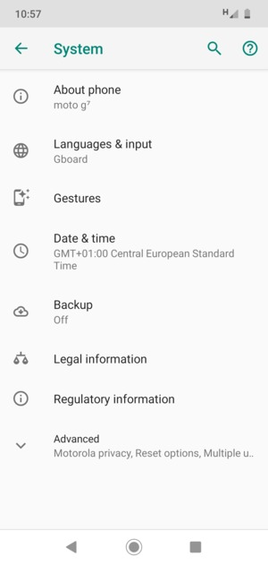 Update software - Motorola Moto G6 - Android 9 0 - Device Guides