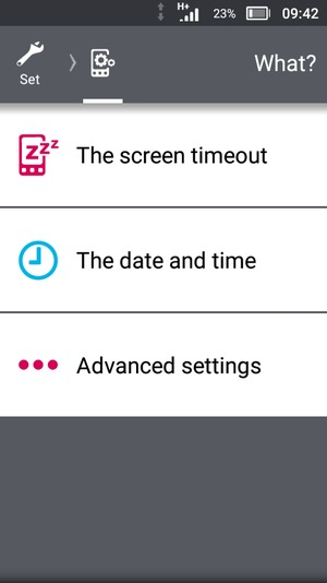 Scroll to and select Advanced settings