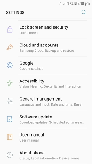 Update software - Samsung Galaxy J2 Pro (2018) - Android 7 1