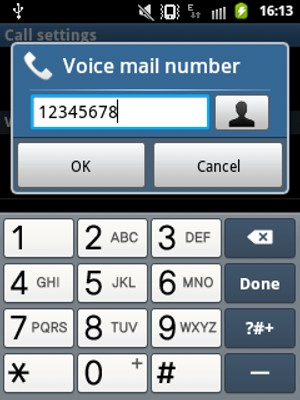 Access voicemail - Samsung Galaxy Xcover - Android 2.3 - Device Guides