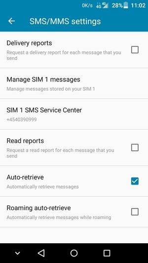Select SMS Service Center
