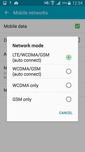 Switch between 3G/4G - Samsung Galaxy E5 - Android 5 0