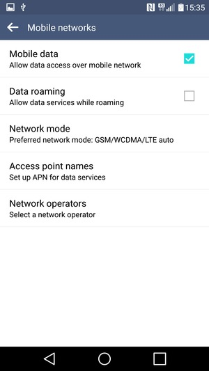 Switch between 3G/4G - LG K7 - Android 5 1 - Device Guides