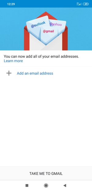 Select Add an email address