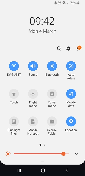 Turn off Wi-Fi  and Bluetooth