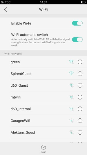 Connect to Wi-Fi - OPPO A57 - Android 6 0 - Device Guides