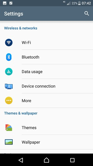 Switch between 3G/4G - Sony Xperia XZ Premium - Android 7 1