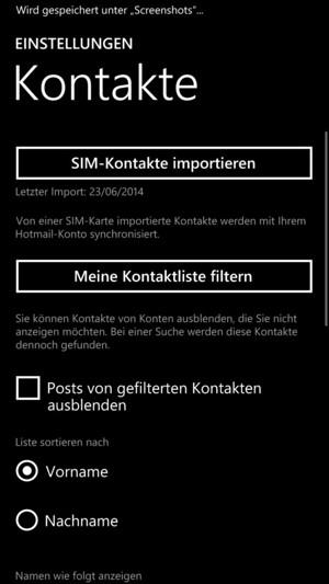 Windows Phone 8 Kontakte Auf Sim